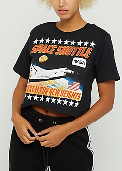 NASA Space Shuttle Raw Edge Skimmer Tee