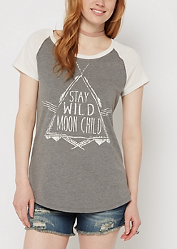 Moon Child Raglan Tee