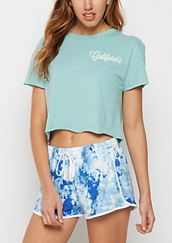 California Vintage Crop Tee