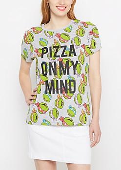 Pizza Ninja Turtles Tossed Graphics Tee