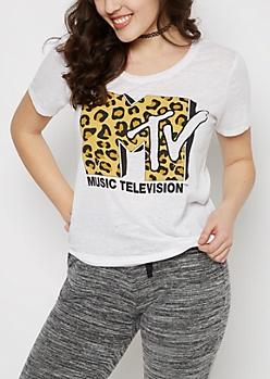MTV Logo Burnout Tee