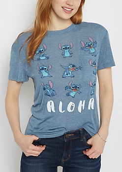 Aloha Stitch Chest Pocket Tee