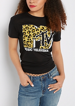 MTV Leopard Pocket Tee