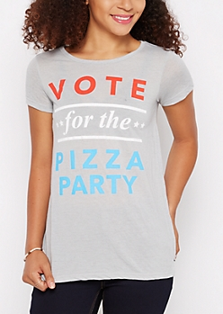 Vote For The Pizza Party Tee