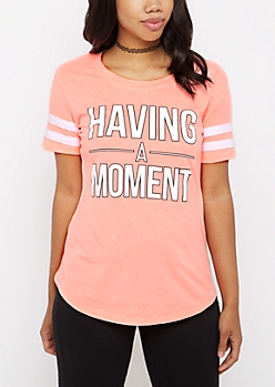 Having A Moment Gridiron Tee