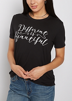 Different Is Beautiful Soft Knit Tee