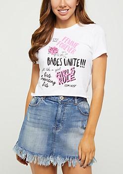 Girls Rule Graffiti Crop Top