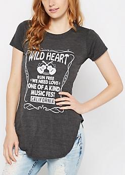 Wild Heart Tunic Tee