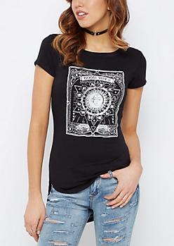 Zodiac Moon Child Shirttail Tee