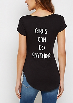 Girls Can Do Anything Shirttail Tee