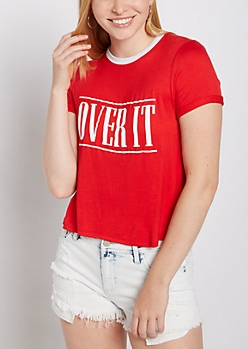 Over It Ringer Tee