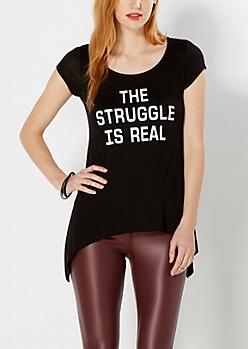 The Struggle Is Real Sharkbite Tee