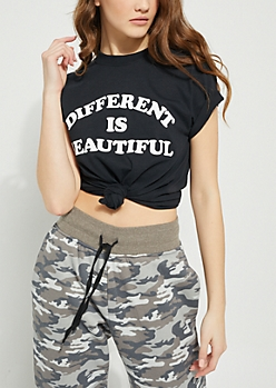 Black Different Is Beautiful Knit Tee