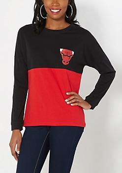 Chicago Bulls Drop Yoke Tee