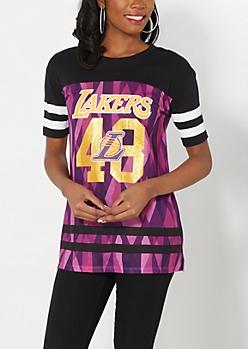 L.A. Lakers Geo Glitter Gridiron Tee