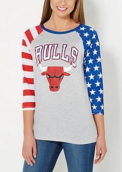 Chicago Bulls Americana Baseball Tee