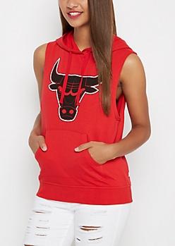 Chicago Bulls Sleeveless Logo Hoodie