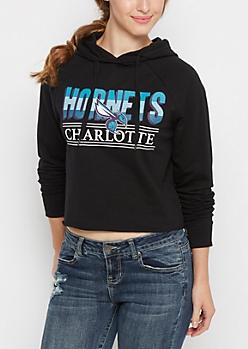 Charlotte Hornets Raglan Cropped Hoodie