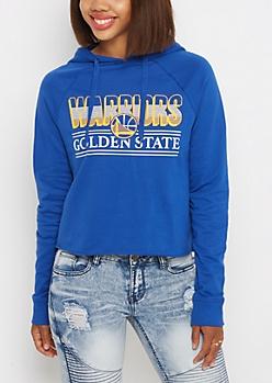Golden State Warriors Raglan Cropped Hoodie