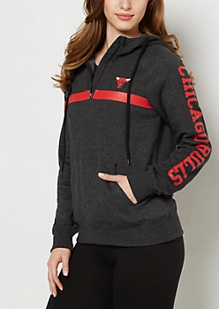 Chicago Bulls Quilted Pocket Hoodie