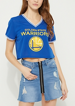 Golden State Warriors Crop Mesh Jersey