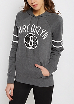 Brooklyn Nets Fleece Logo Hoodie