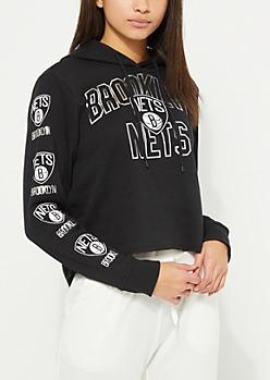 Brooklyn Nets Cropped Hoodie