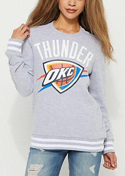 Oklahoma City Thunder Striped Sweatshirt