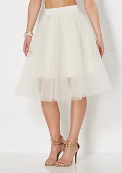Ivory Tulle Ballerina Skirt