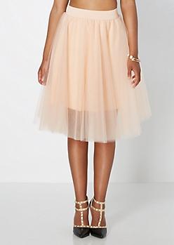 Light Pink Tulle Ballerina Skirt