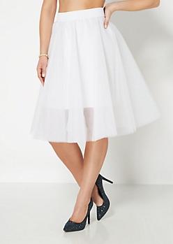 White Tulle Ballerina Skirt