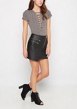 Moto Zip Skirt