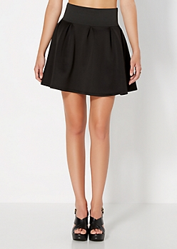 Black Weekend Escape Skater Skirt