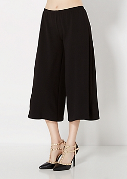 Textured Knit Culottes Pant
