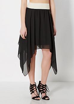 Black Chiffon Hanky Skirt