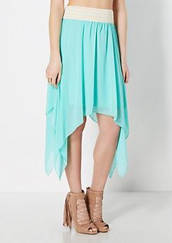 Light Green Chiffon Hanky Skirt