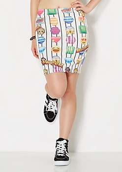 Sweet Tooth Emoji Mini Skirt