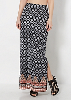 Marrakesh Deep Slit Maxi Skirt