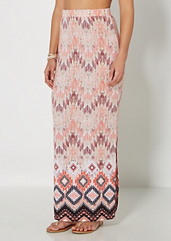 Tribal Streak Maxi Skirt