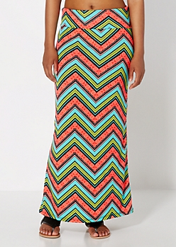 Multi Tropical Bazaar Maxi Skirt