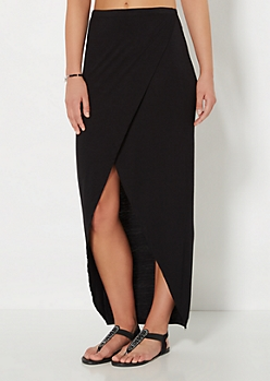 Black Tulip Maxi Skirt