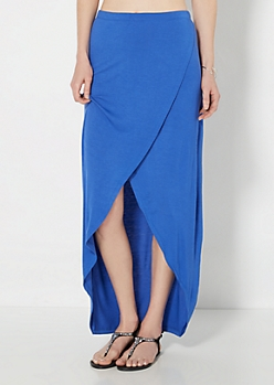 Royal Blue Tulip Maxi Skirt