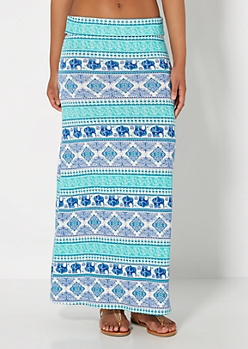 Folklore Elephant Maxi Skirt