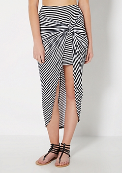 Striped Knotted Skirt