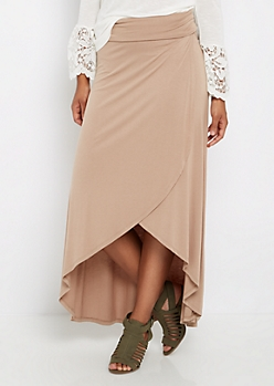 Taupe Jersey Tulip Skirt