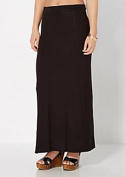 Black Favorite Knit Maxi Skirt