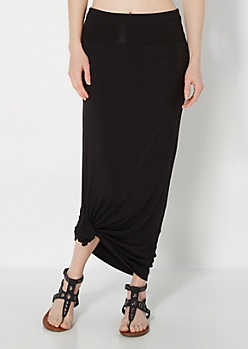Black Everyday Maxi Skirt