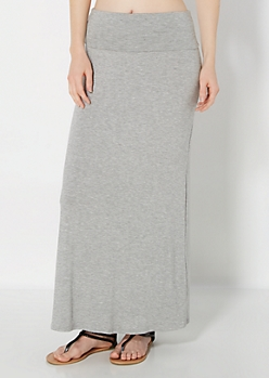 Heather Gray Everyday Maxi Skirt