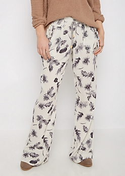 Floral Smocked Linen Pant