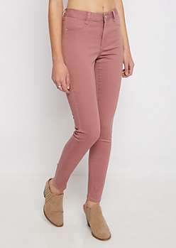 Pink Ultra Soft Brushed Jegging